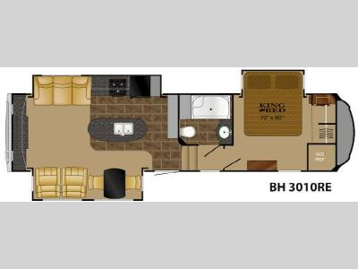 Floorplan - 2015 Heartland Bighorn 3010RE