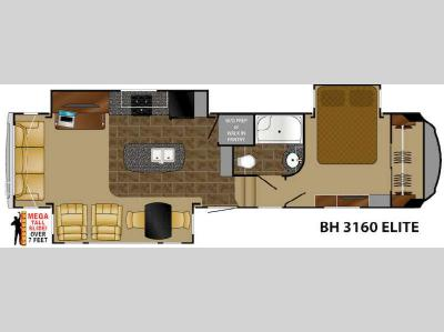 Floorplan - 2015 Heartland Bighorn 3160 Elite