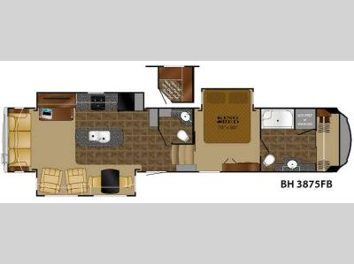 Floorplan - 2015 Heartland Bighorn 3875FB