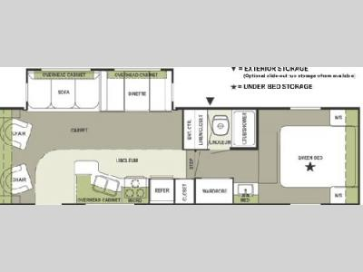 Floorplan - 2004 Forest River RV Rockwood 8285 SS