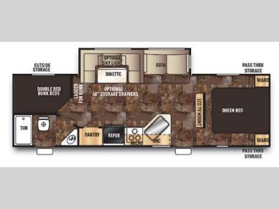 Floorplan - 2014 Forest River RV Cherokee 274DBH