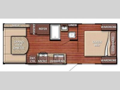 Floorplan - 2014 Gulf Stream RV Conquest 20QBG