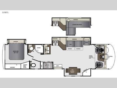 Floorplan - 2015 Forest River RV Georgetown XL 378TSF