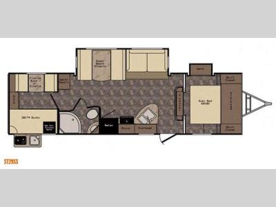 Floorplan - 2015 CrossRoads RV Sunset Trail Reserve ST29SS