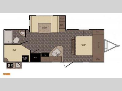 Floorplan - 2015 CrossRoads RV Sunset Trail Super Lite ST240BH