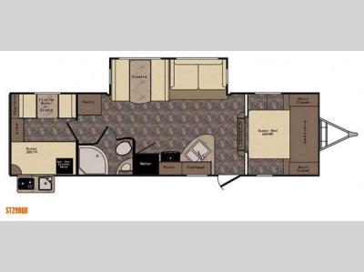 Floorplan - 2015 CrossRoads RV Sunset Trail Super Lite ST290QB