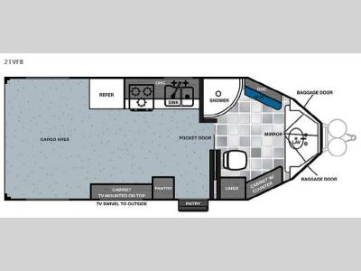 Floorplan - 2015 Forest River RV Work and Play 21VFB