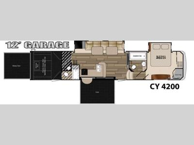 Floorplan - 2015 Heartland Cyclone 4200