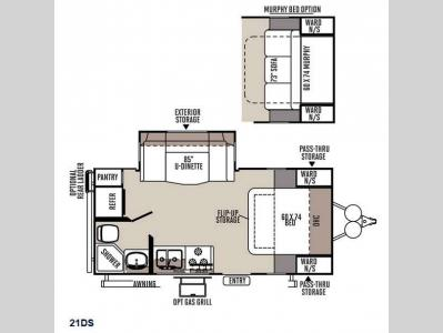 Floorplan - 2015 Forest River RV Flagstaff Micro Lite 21DS