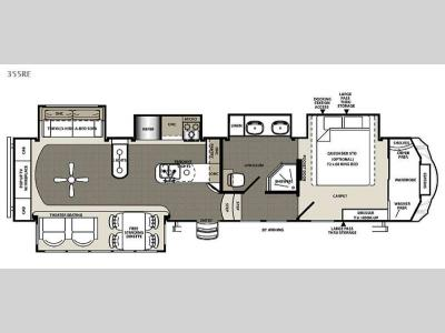 Floorplan - 2015 Forest River RV Sandpiper 355RE