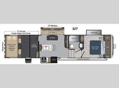 Floorplan - 2015 Keystone RV Carbon 327