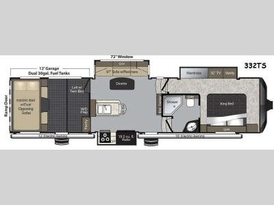 Floorplan - 2015 Keystone RV Raptor 332TS