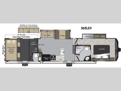 Floorplan - 2015 Keystone RV Raptor 365LEV