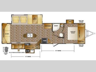 Floorplan - 2015 CrossRoads RV Hill Country HCT32RL