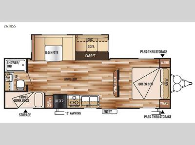 Floorplan - 2015 Forest River RV Wildwood 26TBSS