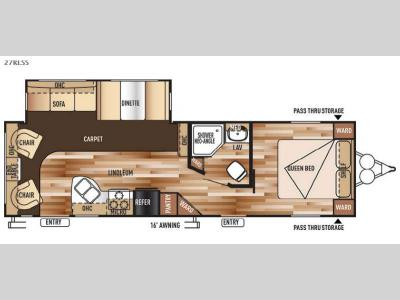 Floorplan - 2015 Forest River RV Wildwood 27RLSS