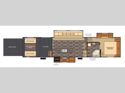 Floorplan - 2014 Forest River RV Vengeance 396V
