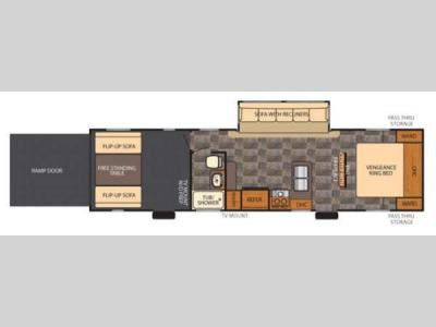 Floorplan - 2014 Forest River RV Vengeance 300V