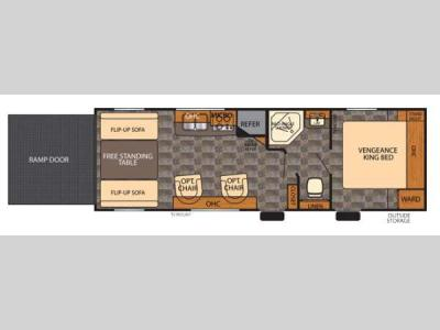 Floorplan - 2014 Forest River RV Vengeance Super Sport 25V