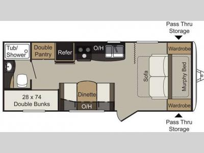 Floorplan - 2015 Keystone RV Passport 238ML Express