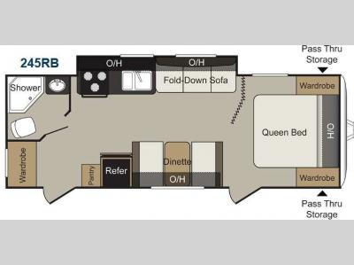 Floorplan - 2015 Keystone RV Passport 245RB Express