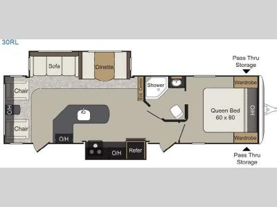 Floorplan - 2015 Keystone RV Passport 30RL Elite