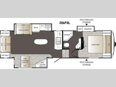 Floorplan - 2015 Keystone RV Outback 286FRL