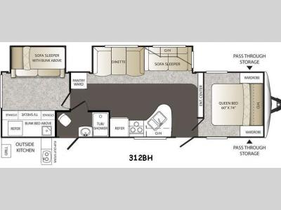 Floorplan - 2015 Keystone RV Outback 312BH