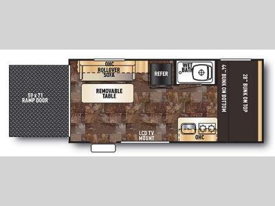 Floorplan - 2015 Forest River RV Cherokee Wolf Pup 17RP