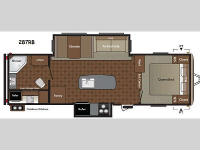 Floorplan - 2014 Keystone RV Springdale 287RB