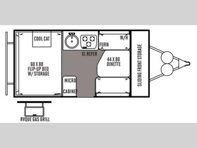 Floorplan - 2014 Forest River RV Flagstaff Hard Side T19QBHW