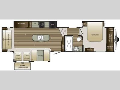 Floorplan - 2015 Keystone RV Cougar 333MKS