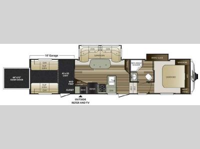Floorplan - 2015 Keystone RV Cougar 326SRX
