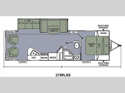 Floorplan - 2015 Coachmen RV Apex Ultra-Lite 279RLSS