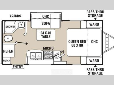 Floorplan - 2015 Coachmen RV Freedom Express 192RBS