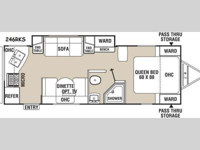 Floorplan - 2015 Coachmen RV Freedom Express 246RKS