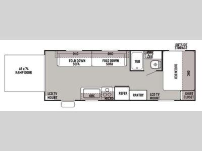 Floorplan - 2015 Forest River RV Cherokee Grey Wolf 21RR