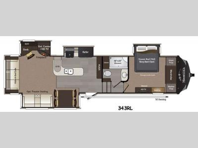 Floorplan - 2015 Keystone RV Montana High Country 343RL