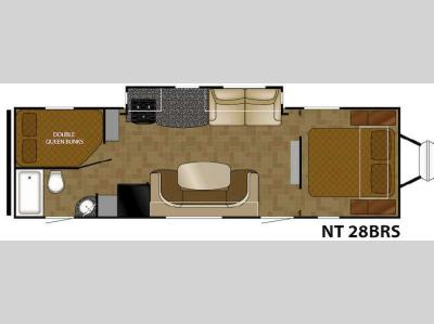 Floorplan - 2015 Heartland North Trail 28BRS