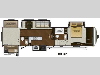 Floorplan - 2015 Keystone RV Mountaineer 356TBF