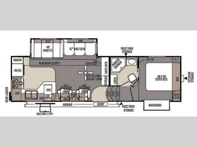Floorplan - 2015 Forest River RV Rockwood Signature Ultra Lite 8280WS