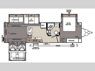 Floorplan - 2015 Forest River RV Rockwood Signature Ultra Lite 8325SS