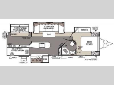 Floorplan - 2015 Forest River RV Rockwood Signature Ultra Lite 8327SS