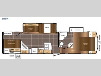 Floorplan - 2015 Prime Time Manufacturing Crusader 296BHS