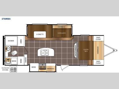 Floorplan - 2015 Prime Time Manufacturing Tracer 2750RBS