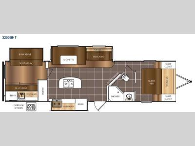 Floorplan - 2015 Prime Time Manufacturing Tracer 3200BHT