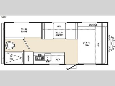 Floorplan - 2015 Coachmen RV Clipper Ultra-Lite 17BH