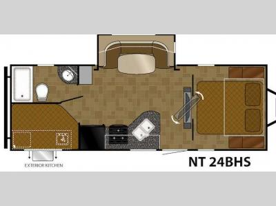 Floorplan - 2015 Heartland North Trail 24BHS