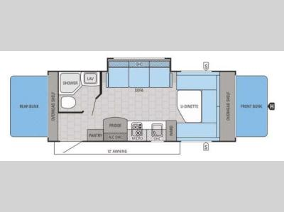 Floorplan - 2015 Jayco Jay Feather SLX 19XUD