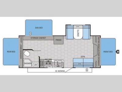 Floorplan - 2015 Jayco Jay Feather Ultra Lite X23F